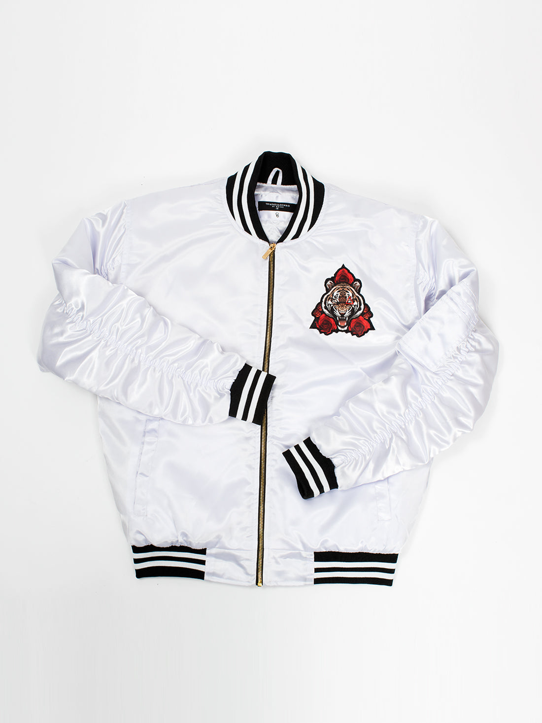 Le Tiger White Satin Jacket - Triangulo Swag