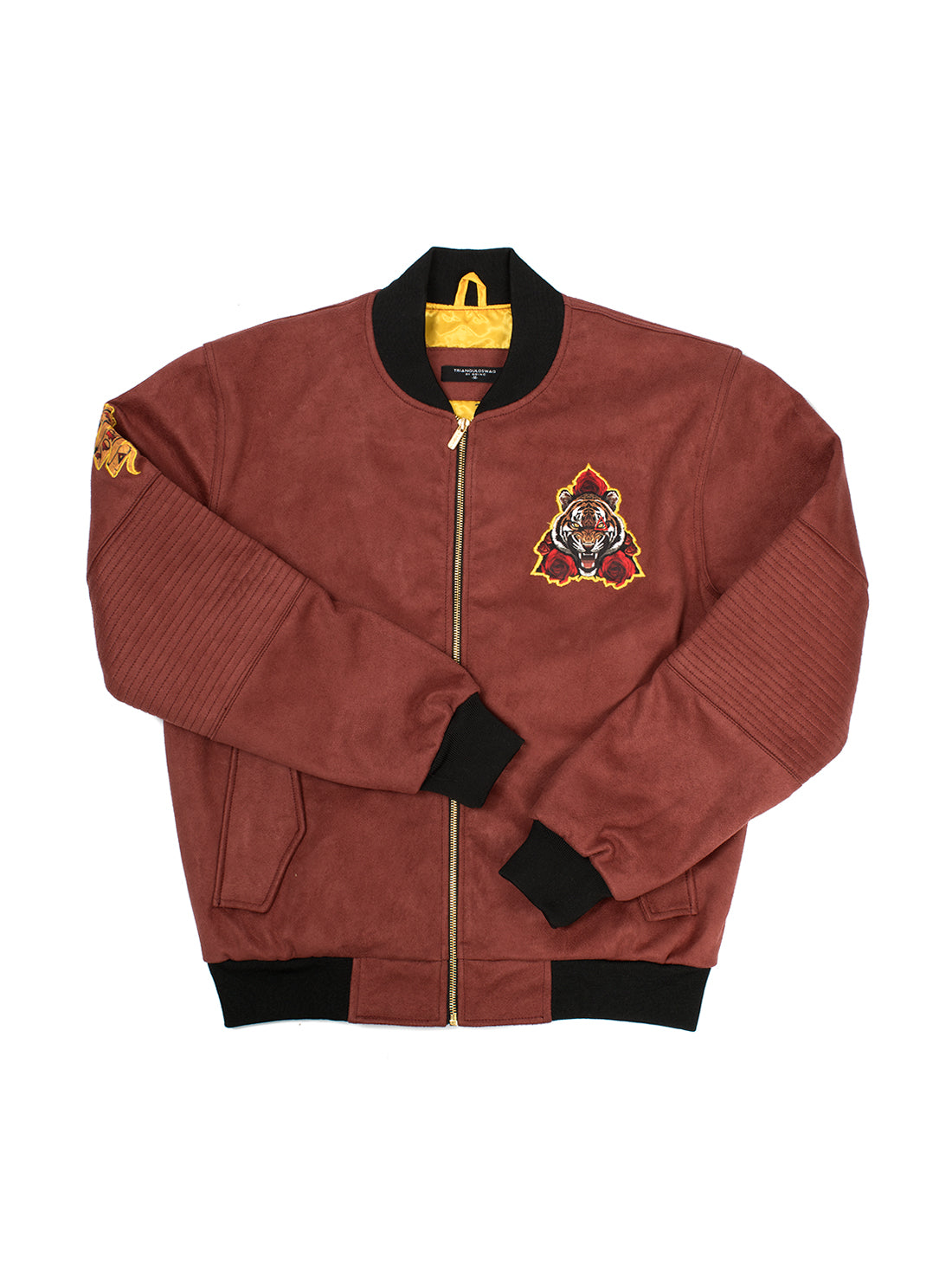 LE TIGER Burgundy SUEDE JACKET - Triangulo Swag