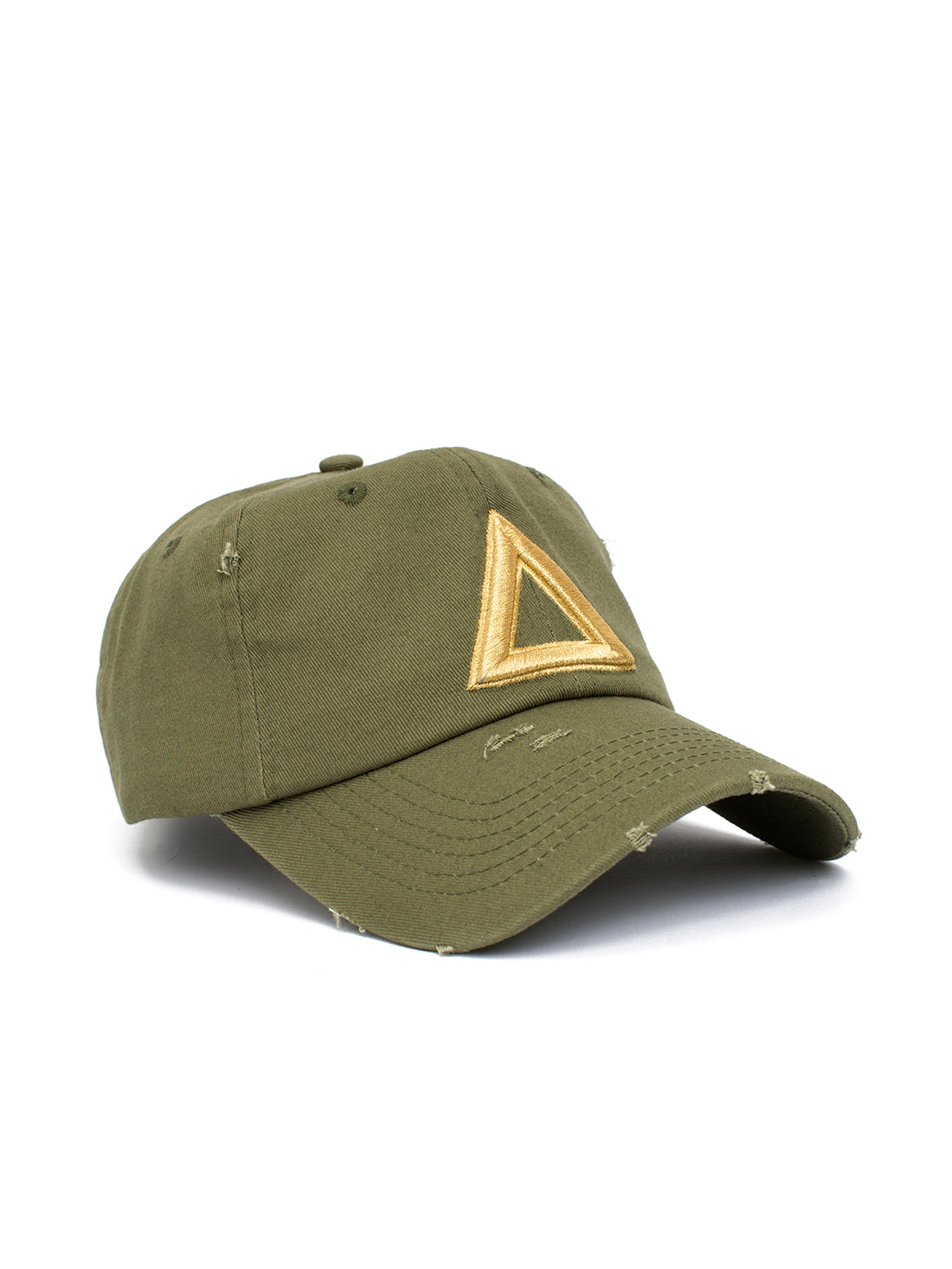 ca3b83e9b distress dad hat olive green - gold tri