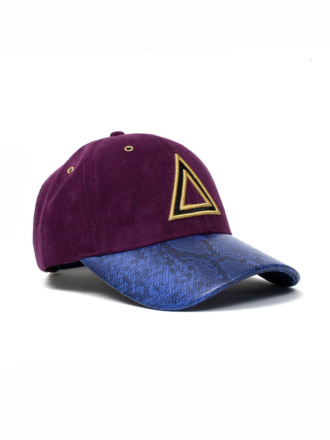 PURPLE SUEDE SNAKESKIN DAD HAT