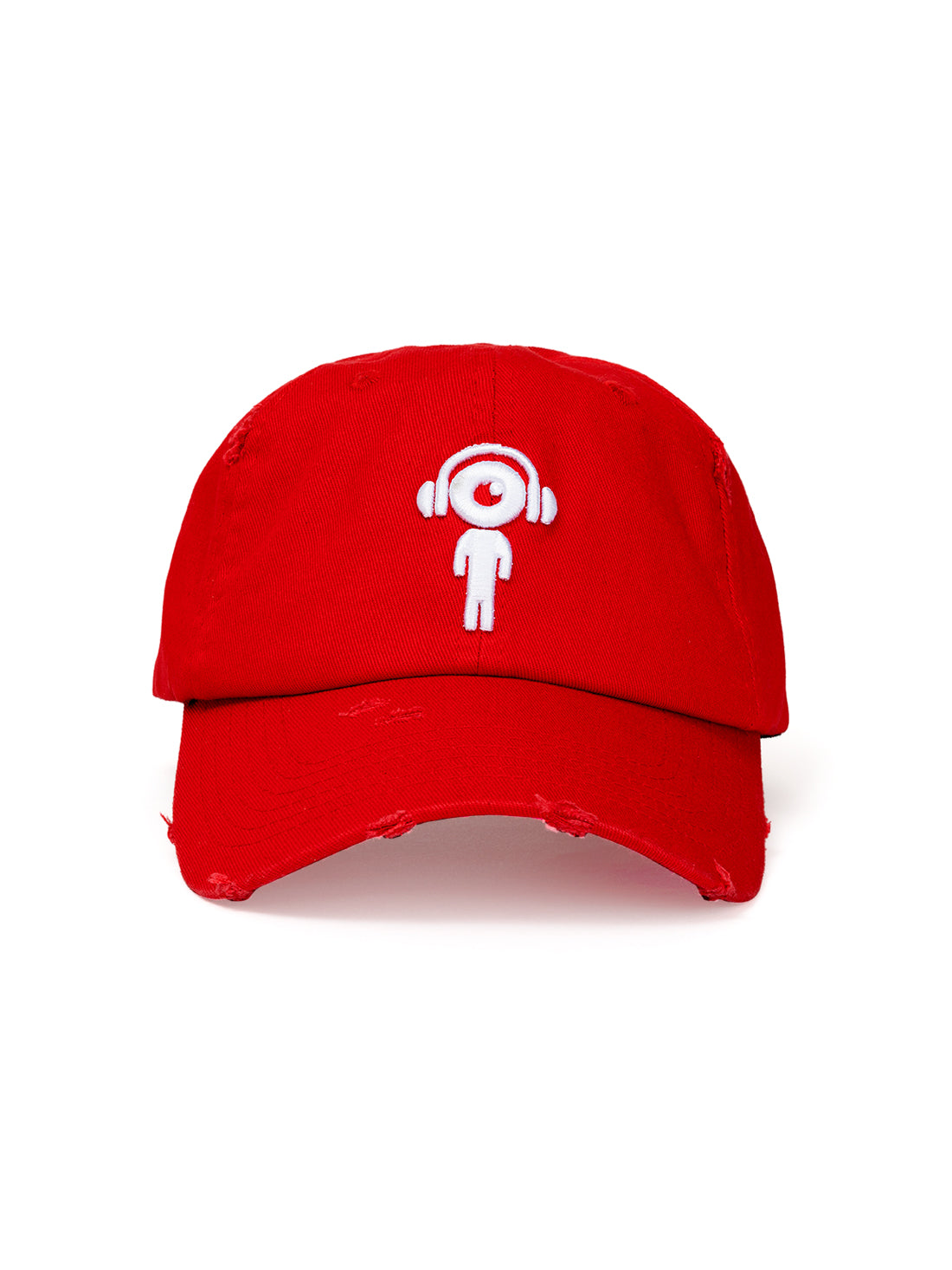 DISTRESS DAD HAT RED - WHITE Lil MAN