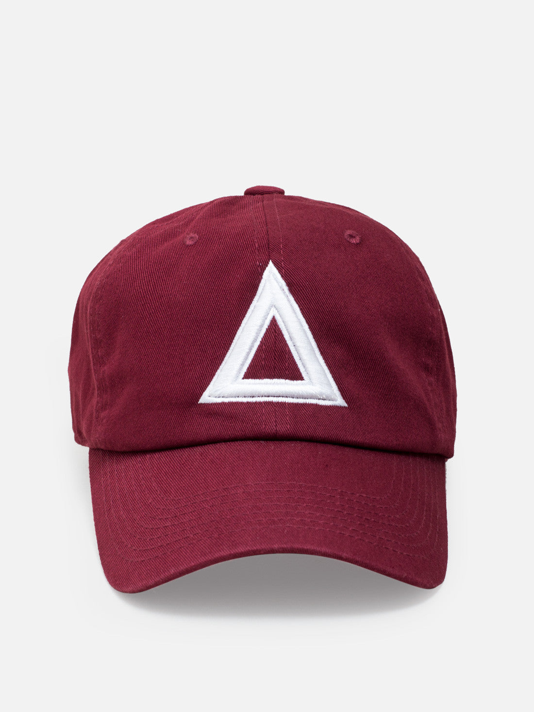 Dad hat Burgundy - white tri - Triangulo Swag
