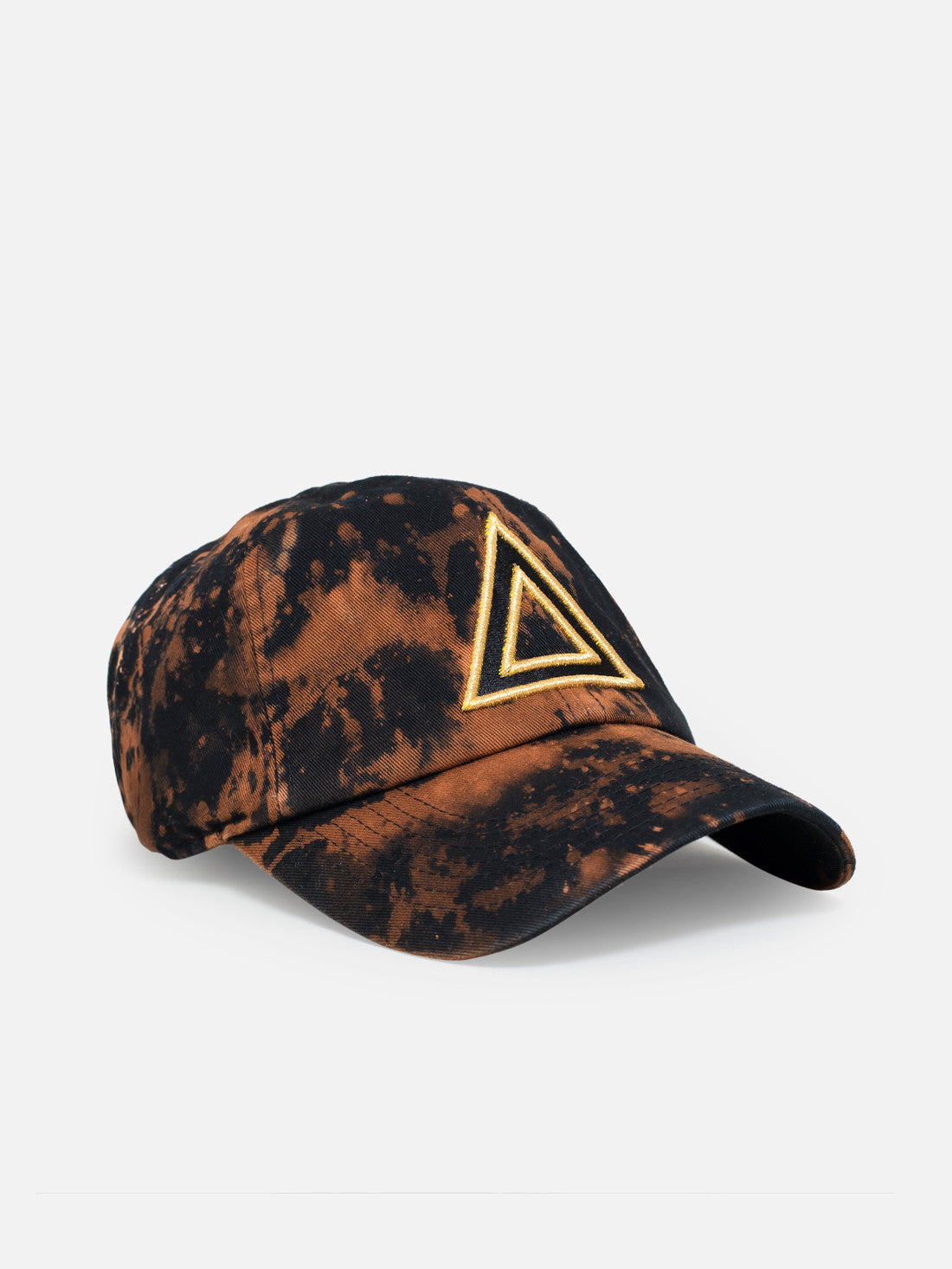 Dad hat black Bleach - Gold tri