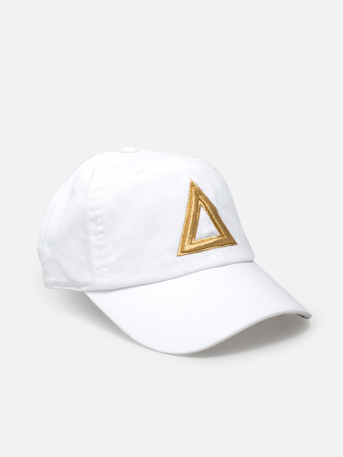 Dad hat white - gold tri
