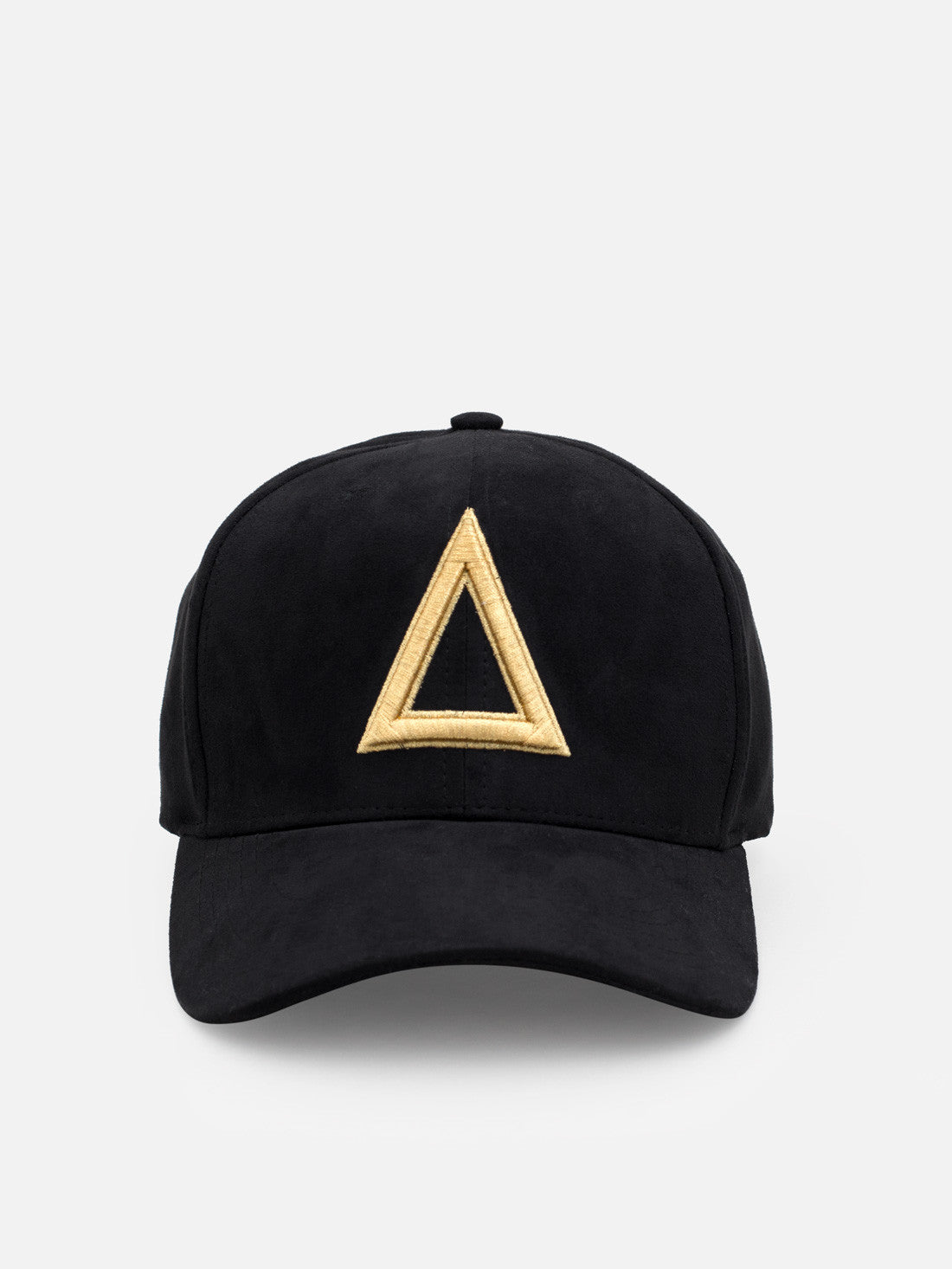 Suede Dad hat Black - Gold tri