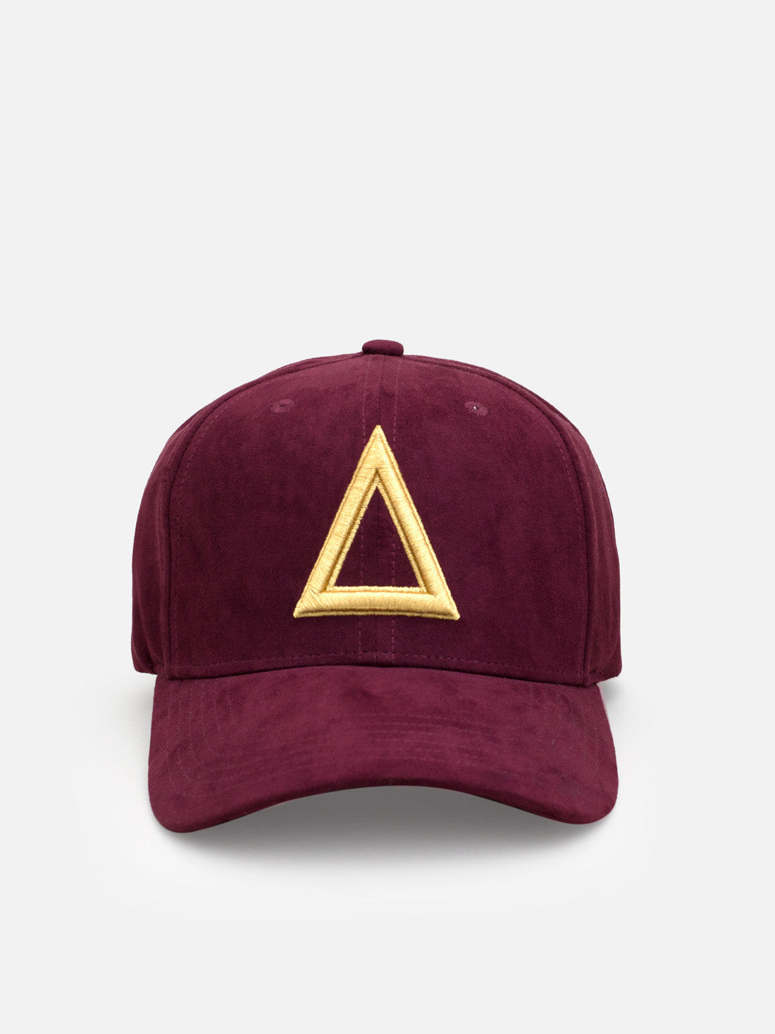 Suede Dad hat Burundy - Gold tri