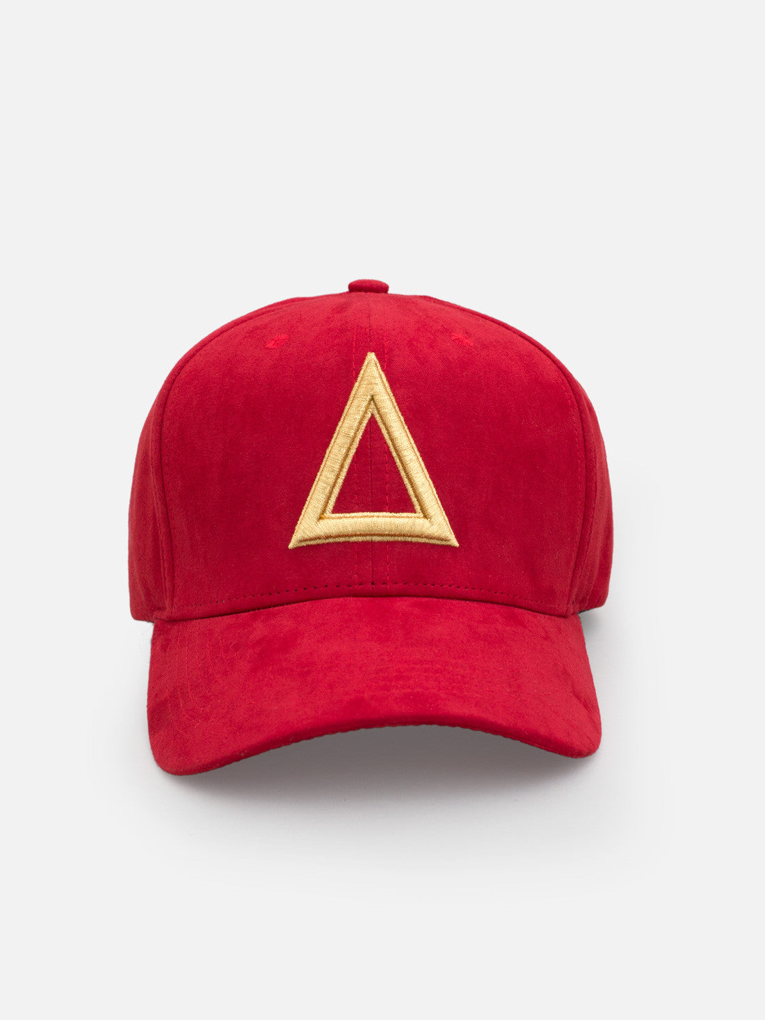 Suede Dad hat Red - Gold tri