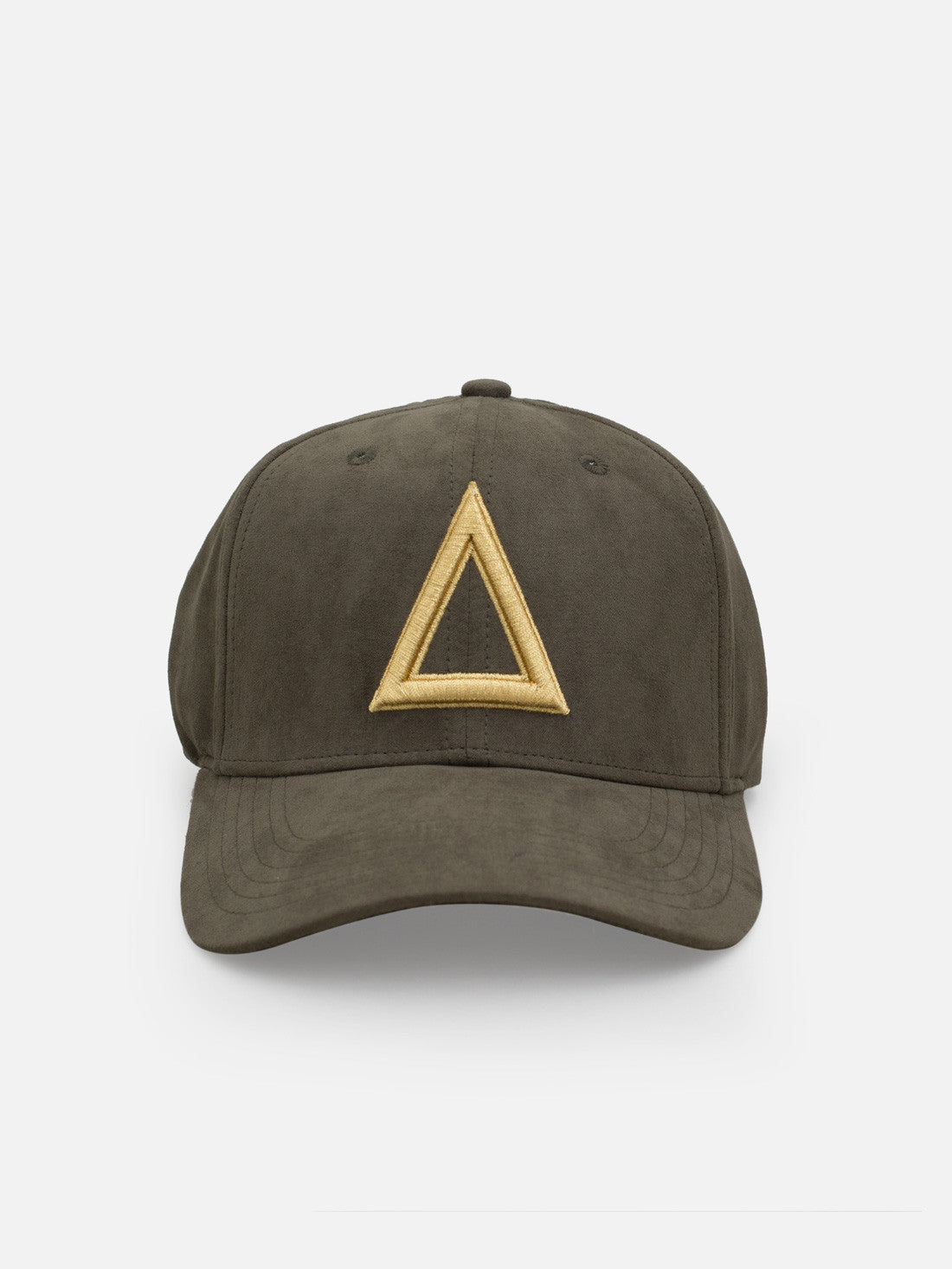 Suede Dad hat olive green - Gold tri