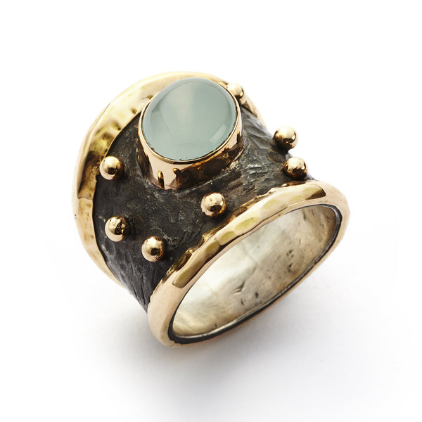 Empire Gold Aqua Cabochon - By Birdie