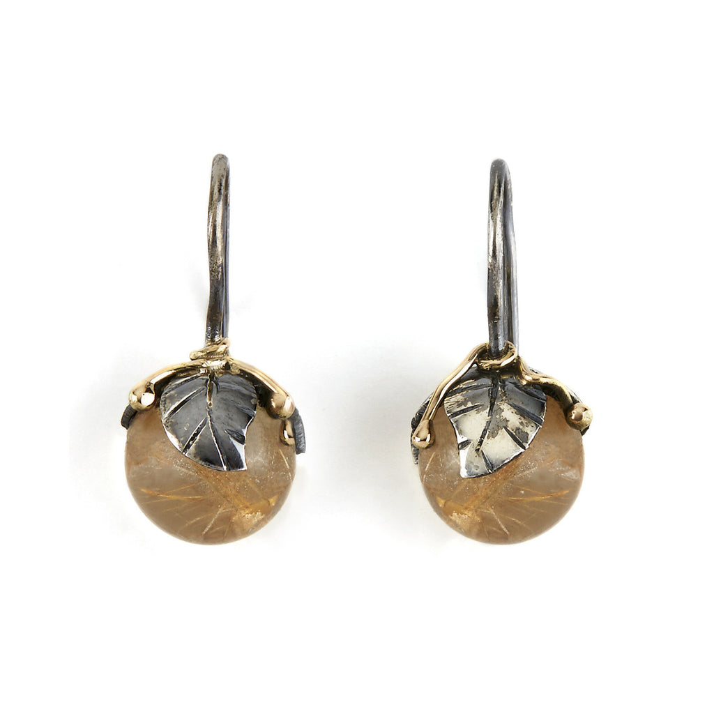 Urban Leaf Drops Golden Rutile Quartz - By Birdie