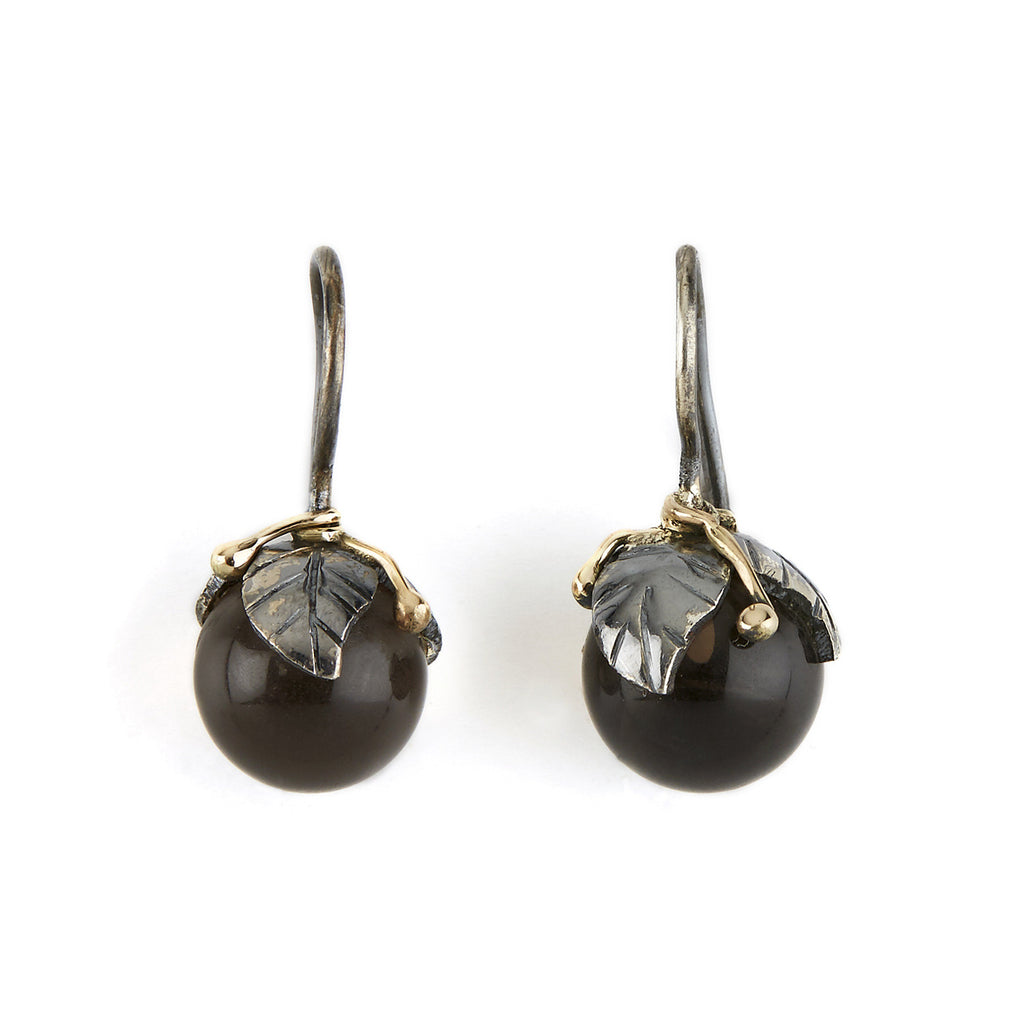 Urban Leaf Drops Black Smoky Quartz - By Birdie