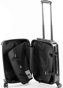 The Personalised Black Strokes Suitcase