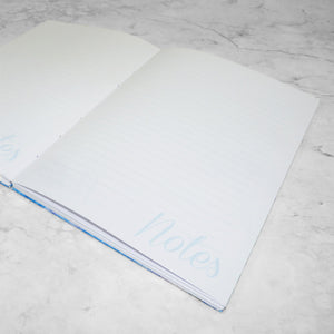 The Personalised Marble Notebook | Blue Edition