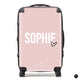 The Personalised Dusky Pink Heart Suitcase