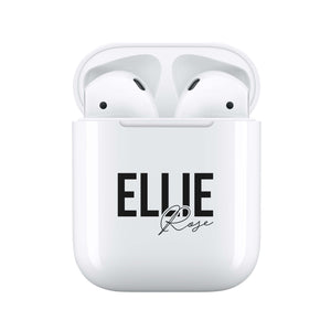 Black Signature - Personalised Wireless Earphones / Pods