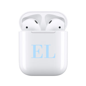 Blue Initials - Personalised Wireless Earphones / Pods