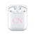 Baby Pink Initials - Personalised Wireless Earphones / Pods