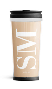 Personalised Travel Mug - Nude Initials