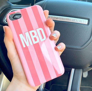 The Personalised Pink Stripes Case