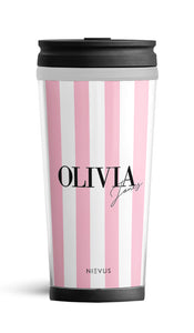 Personalised Travel Mug - Pink Signature Edition
