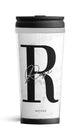 Personalised Travel Mug - Platinum Marble Edition
