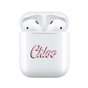 Retro Pink - Personalised Wireless Earphones / Pods