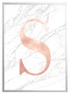 Personalised Marble Print - Rose Gold Initial