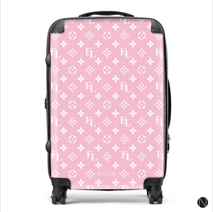 The Personalised Monogram Suitcase - Pink Edition