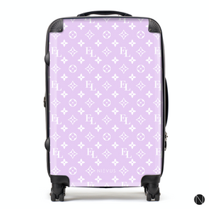 The Personalised Monogram Suitcase - Lilac Edition