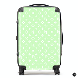 The Personalised Monogram Suitcase - Mint Edition