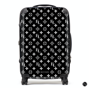 The Personalised Monogram Suitcase - Black Edition