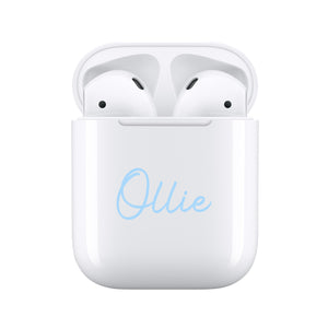 Blue Handwritten - Personalised Wireless Earphones / Pods