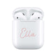 Dusky Pink Handwritten - Personalised Wireless Earphones / Pods