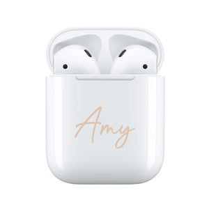 Nude Handwritten - Personalised Wireless Earphones / Pods