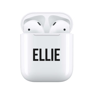 Statement Black - Personalised Wireless Earphones / Pods