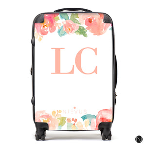 The Personalised Floral Suitcase