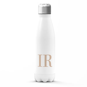 The Personalised Initials Bottle - Nude Edition
