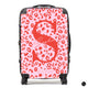 The Personalised Leopard Print Suitcase - Pink Edition