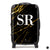The Personalised Marble Suitcase - Black & Gold Edition