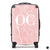 The Personalised Marble Suitcase - Pink Edition