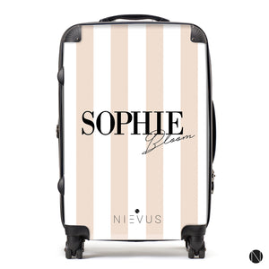 The Personalised Signature Suitcase - Nude Edition