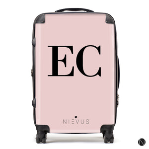 The Personalised Initials Suitcase - Dusky Pink Edition