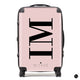 The Personalised Initials Suitcase - Dusky Pink Side Edition