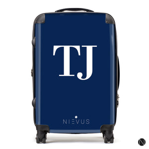 The Personalised Initials Suitcase - Navy Edition