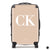 The Personalised Initials Suitcase - Nude Edition