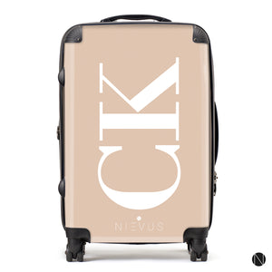 The Personalised Initials Suitcase - Nude Side Edition