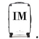 The Personalised Initials Suitcase - White Edition