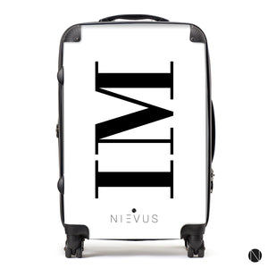 The Personalised Initials Suitcase - White Side Edition