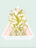 Avant Debut | Golden Pineapple by Barlena Digital Art and Art Prints