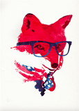 Avant Debut | American Fox by Robert Farkas Digital Art and Art Prints
